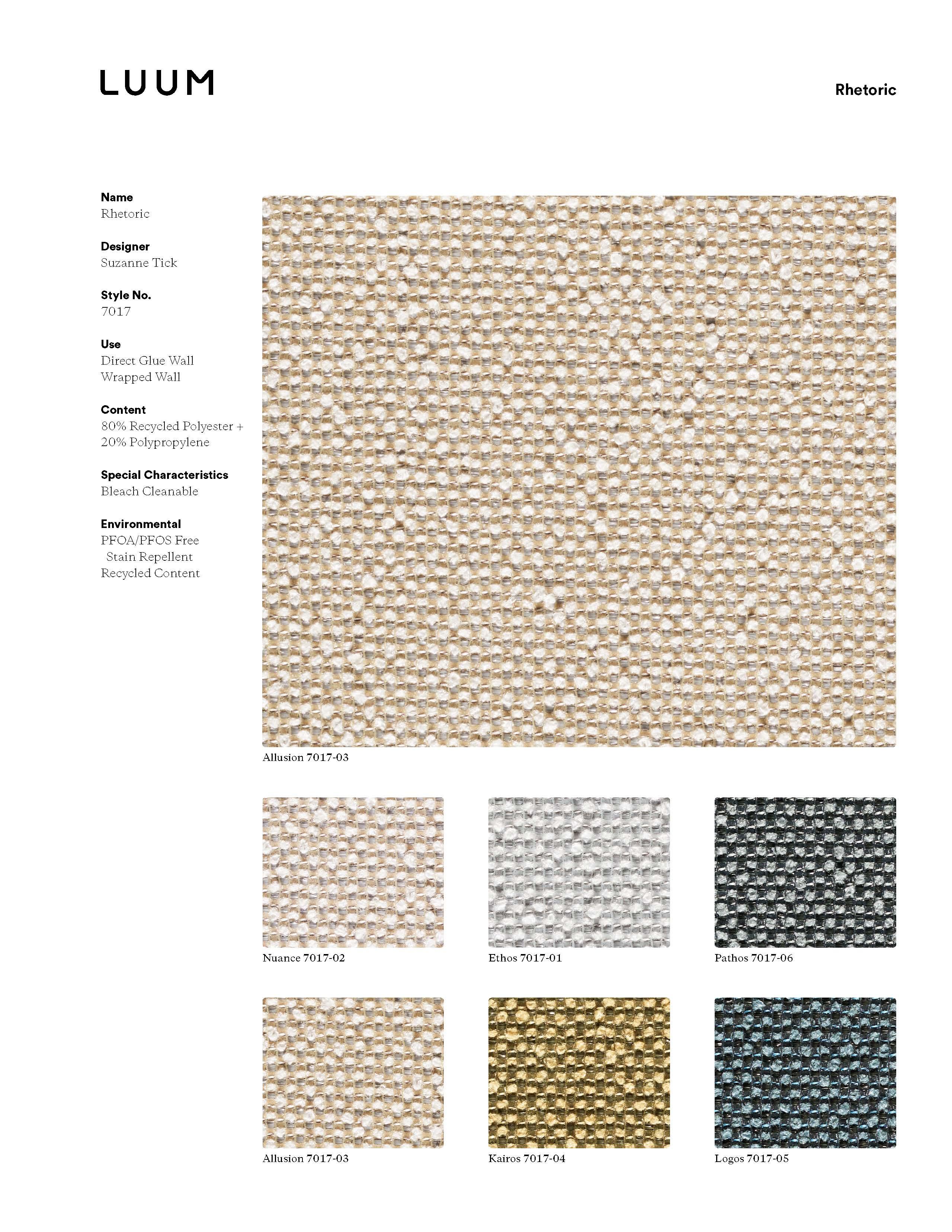 Rhetoric - Ethos - 7017 - 01 Sample Card