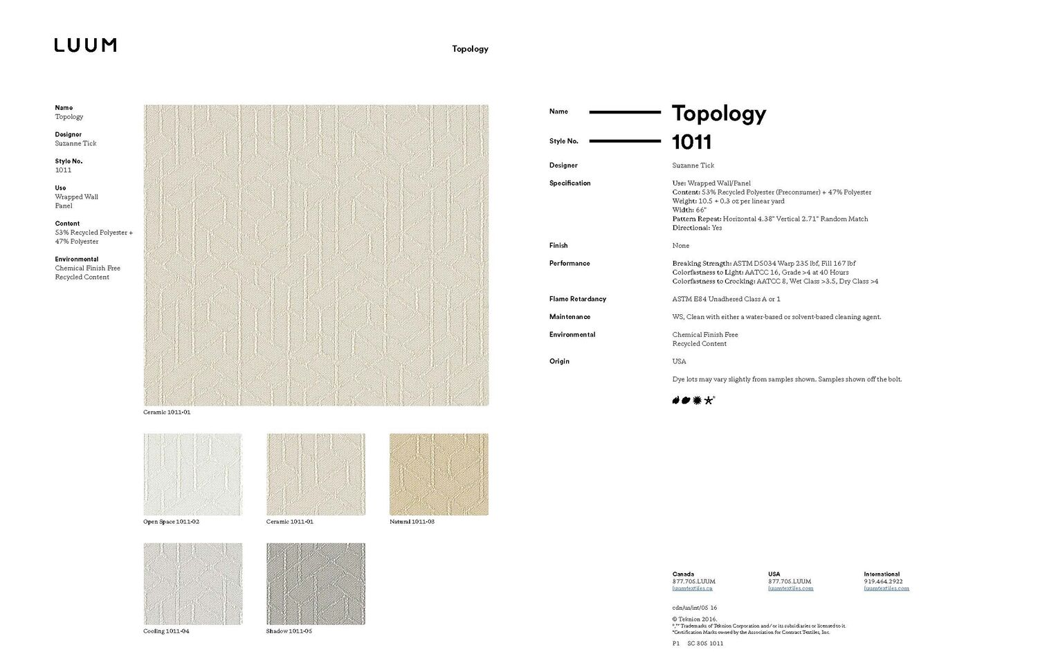 Topology - Ceramic - 1011 - 01 Sample Card