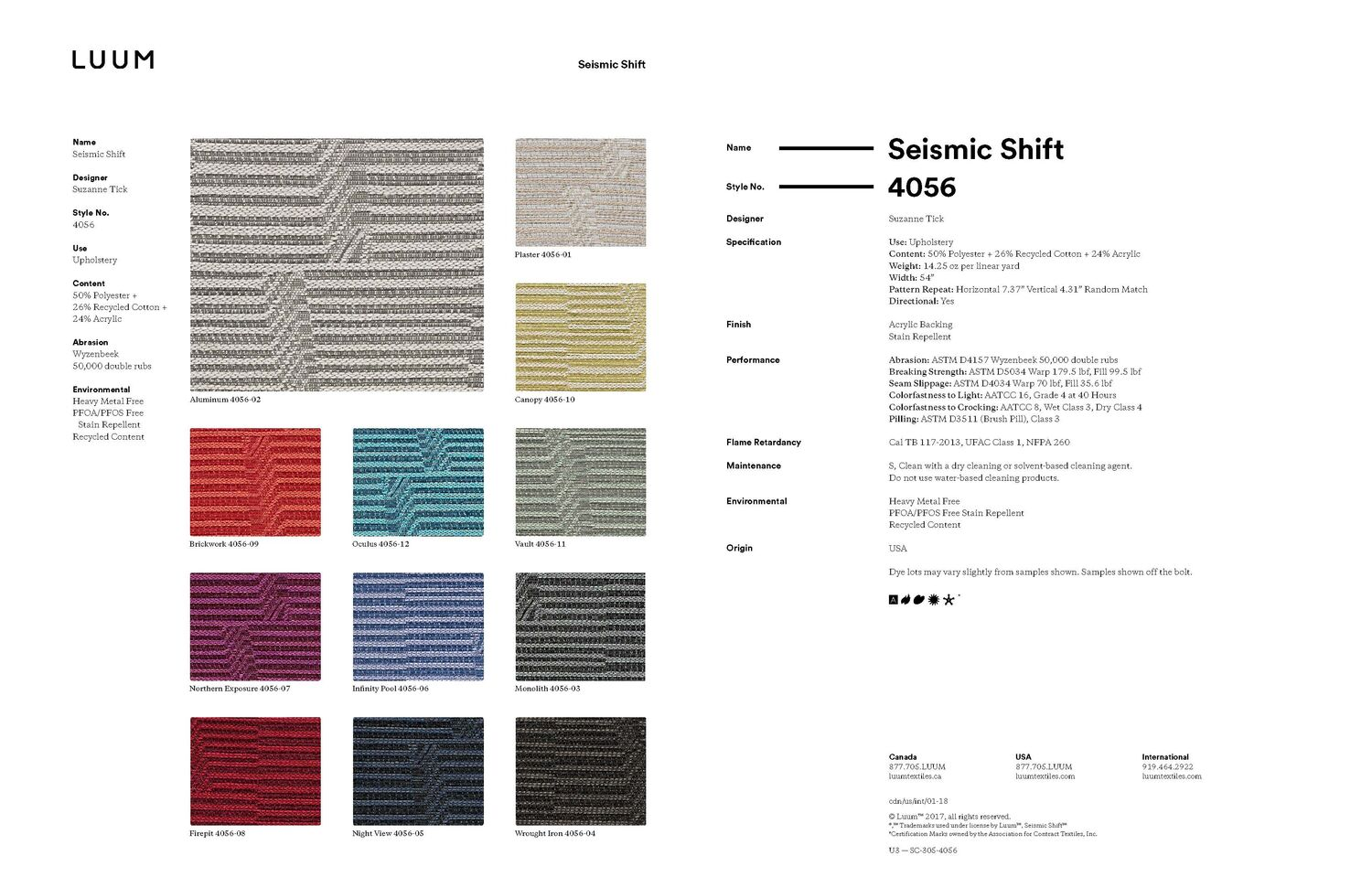 Seismic Shift - Aluminum - 4056 - 02 Sample Card