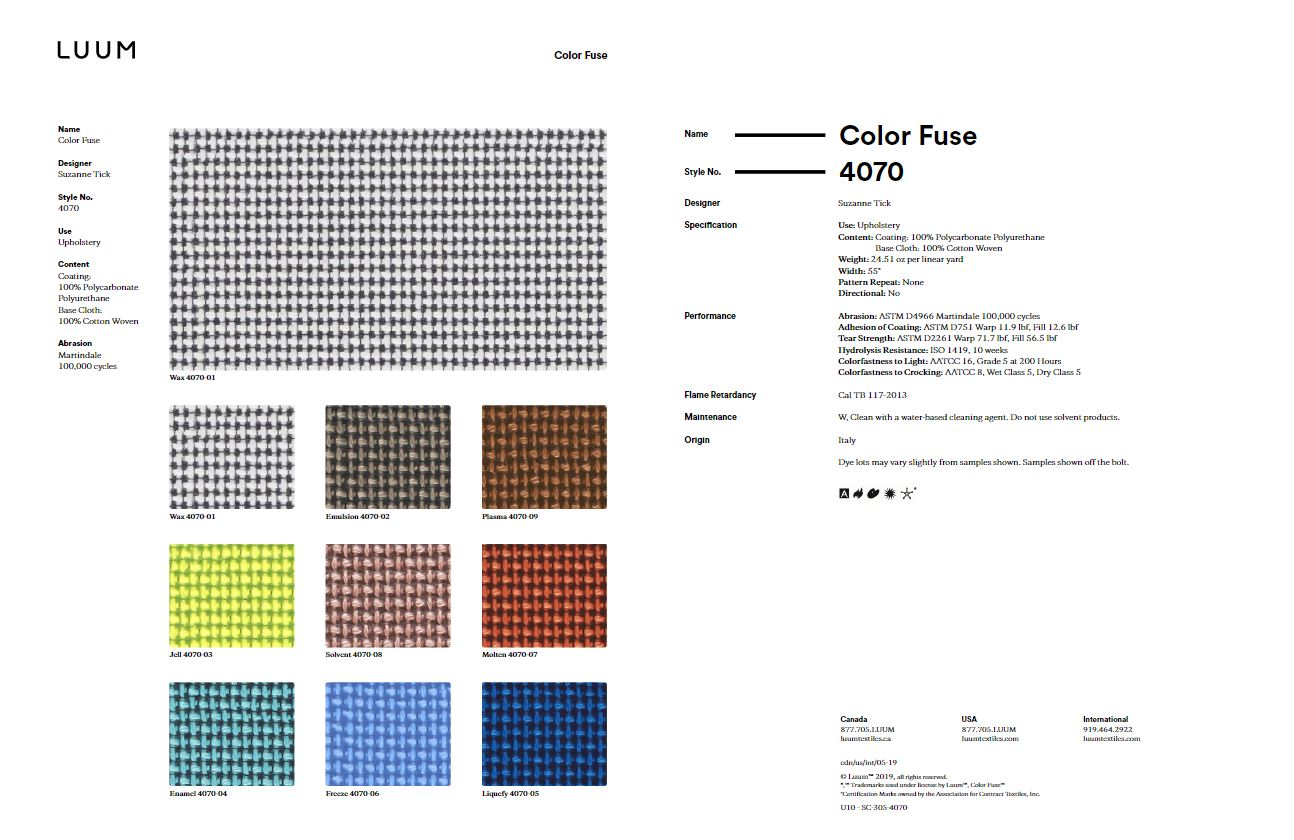 Color Fuse - 4070 Sample Card
