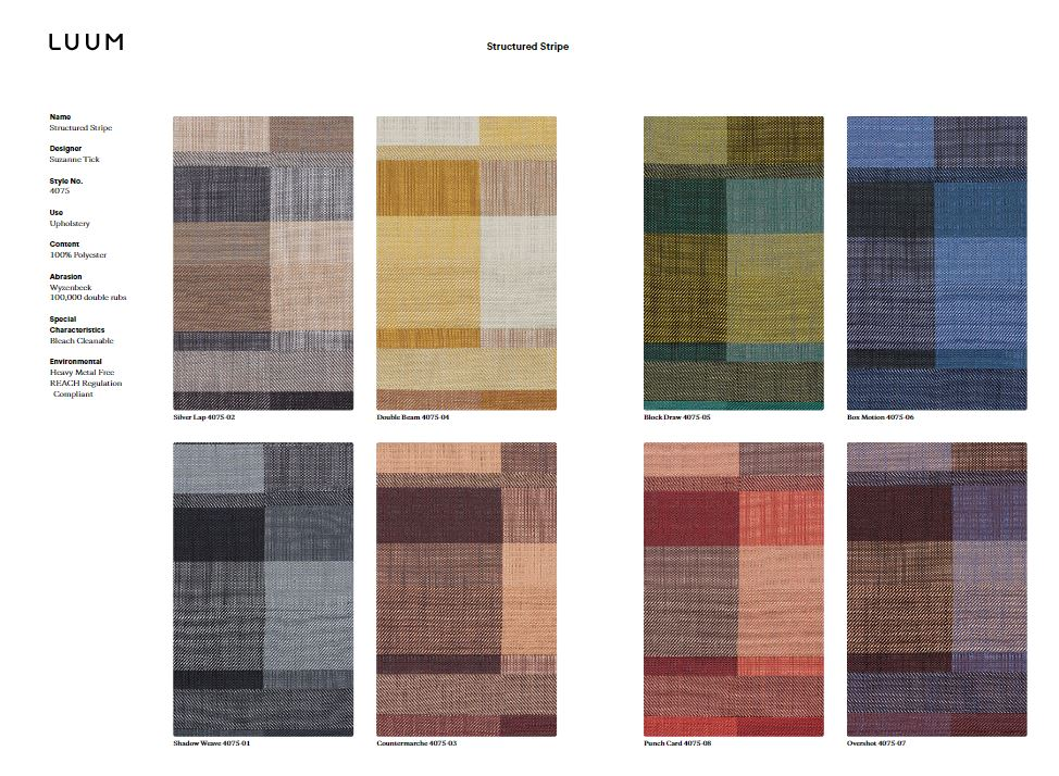 Structured Stripe - Shadow Weave - 4075 - 01 Sample Card