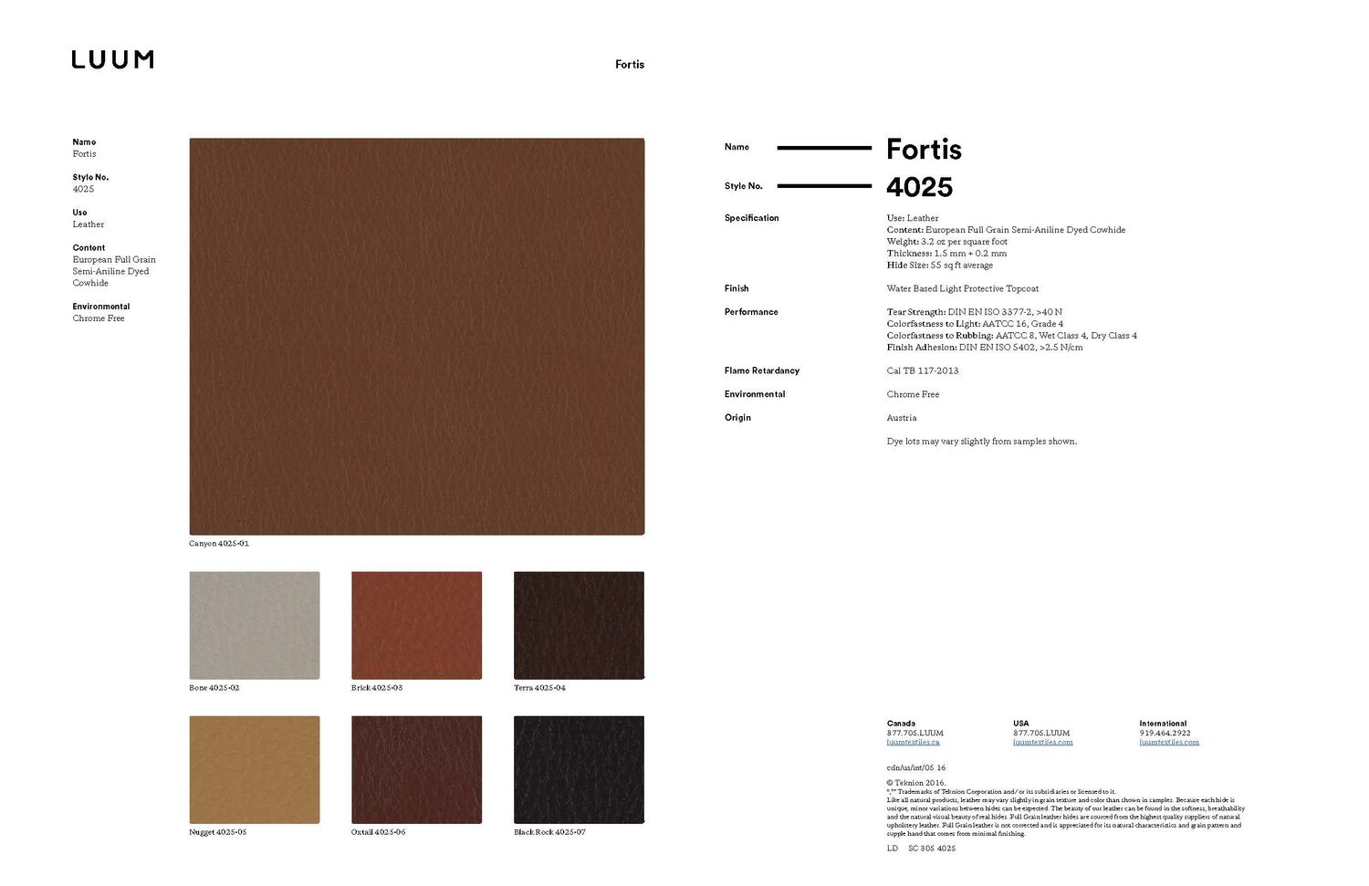 Fortis - Oxtail - 4025 - 06 Sample Card