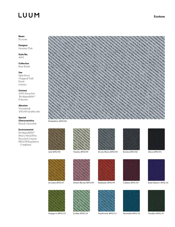 Ecotone - Badlands - 4092 - 09 - Half Yard Sample Card