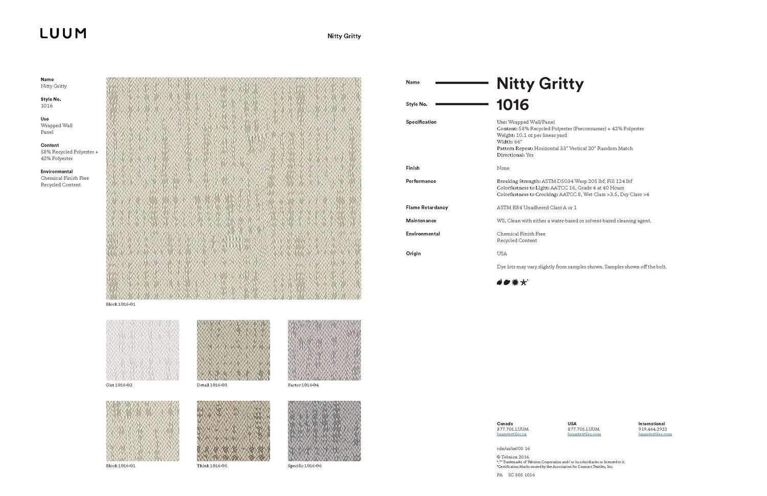 Nitty Gritty - Specific - 1016 - 06 Sample Card