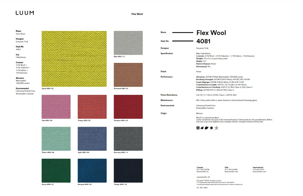 Flex Wool - Tempo - 4081 - 02 - Half Yard Sample Card