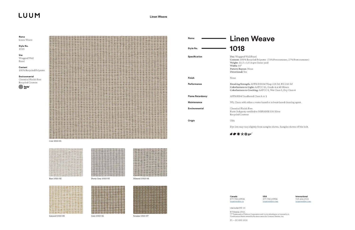 Linen Weave - Sesame - 1018 - 07 - Half Yard Sample Card